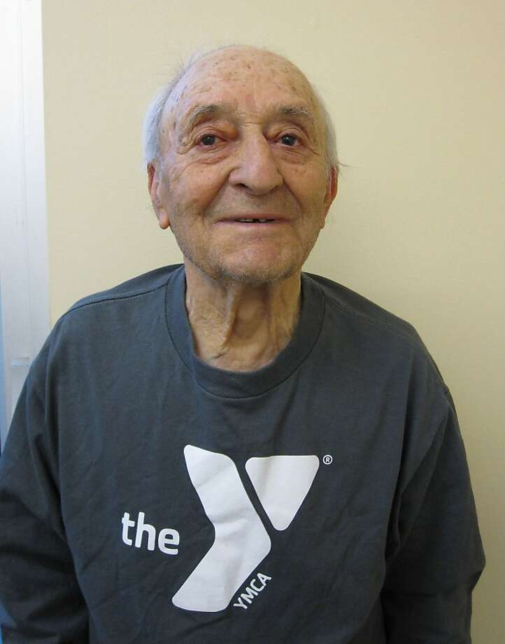 Jakob Atlas, 94, is a 27-year YMCA member. He still is able to walk to the Y. Photo: -, YMCA Of San Francisco