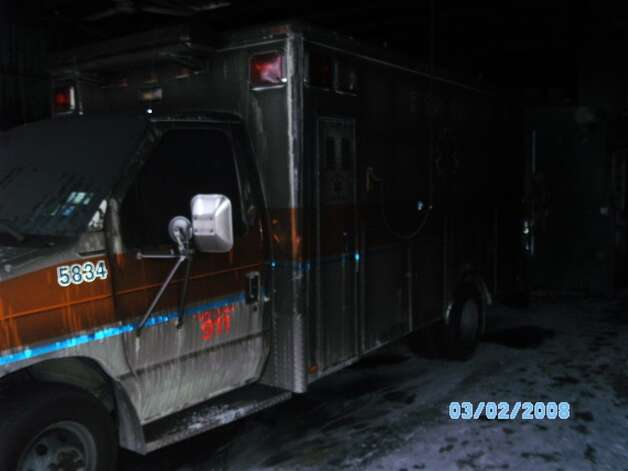 Leaders of the Rensselaer Volunteer Ambulance Service say a Dec. 28, 2012, fire caused so much damage that they've been unable to use their ambulances until they undergo extensive repair. The agency is looking for space to rent and an ambulance to borrow until their building at 901 Third St. and the ambulance can be repaired. (Courtesy: The Rensselaer Volunteer Ambulance Service)