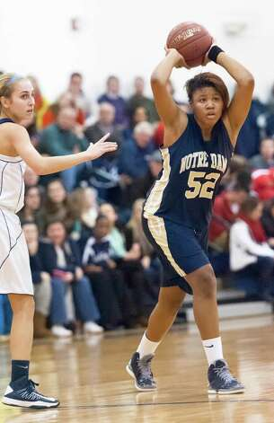 Notre Dame-Fairfield vs Lauralton Hall in a high school girls basketball game played at Lauralton Hall, Milford CT on Friday January 4th, 2013. Photo: Mark Conrad / Connecticut Post Freelance