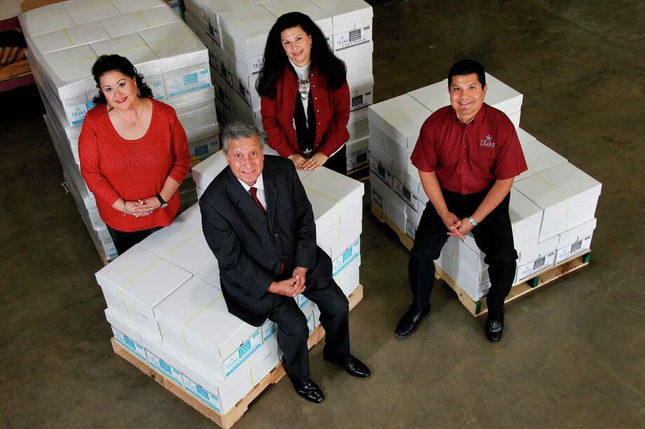 Clients know that a call to Tejas Office Products is likely to put them in contact with a member of the family, as founder Lupe Fraga has daughters Michele Fraga, left, and Alisa Fraga-Kautzmann and son Stephen Fraga all involved in the 50-year-old company. Photo: Mayra Beltran, Staff / © 2012 Houston Chronicle