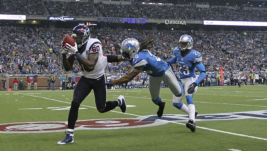 Nov. 22Texans 34 , Lions 31 OT (10-1)Shayne Graham nailed a 32-yard field goal after missing a 51-yarder earlier in overtime as the Texans pulled out a game — their first on Thanksgiving Day — in which they had never led. The back-and-forth battle between Schaub and the Lions' Matthew Stafford produced a combined 1,026 yards of offense. Photo: Karen Warren, Houston Chronicle / © 2012  Houston Chronicle