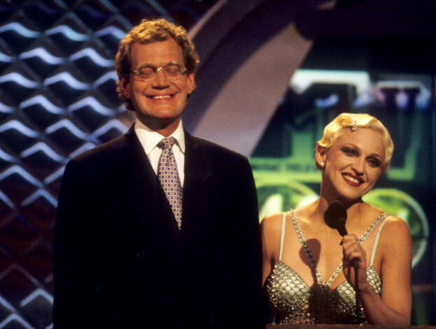 1994: Madonna and David Letterman at the MTV Video Music Awards. WireImage