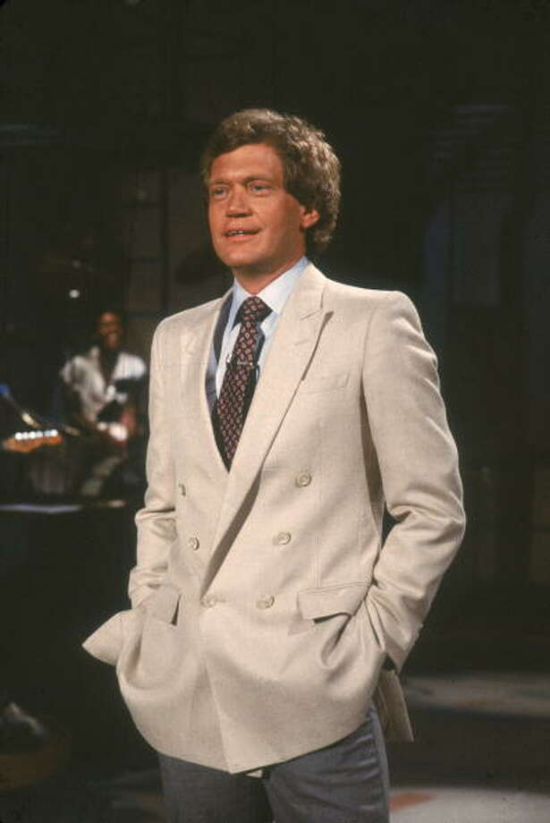 1982: American talk show host David Letterman stands with his hands in his pockets as he gives a monologue at the beginning of a broadcast, New York. Getty Images / 2007 Getty Images