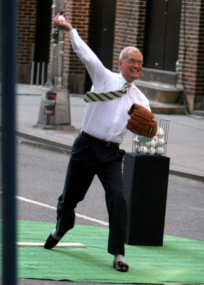 2006: David Letterman at the Ed Sullivan Theatre in New York City, New York. WireImage