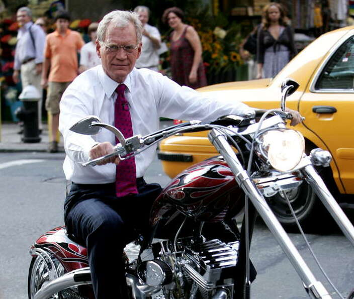 2006: David Letterman in New York City, New York. WireImage