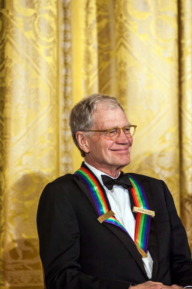 2012: David Letterman attends the Kennedy Center Honors reception at the White House in Washington, DC. The Kennedy Center Honors recognized seven individuals - Buddy Guy, Dustin Hoffman, David Letterman, Natalia Makarova, John Paul Jones, Jimmy Page, and Robert Plant - for their lifetime contributions to American culture through the performing arts. Getty Images / 2012 Getty Images