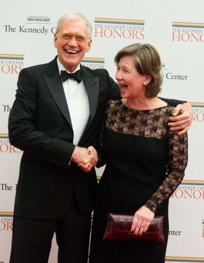 2012: David Letterman is pictured with his wife Regina Letterman. Getty Images / 2012 The Washington Post