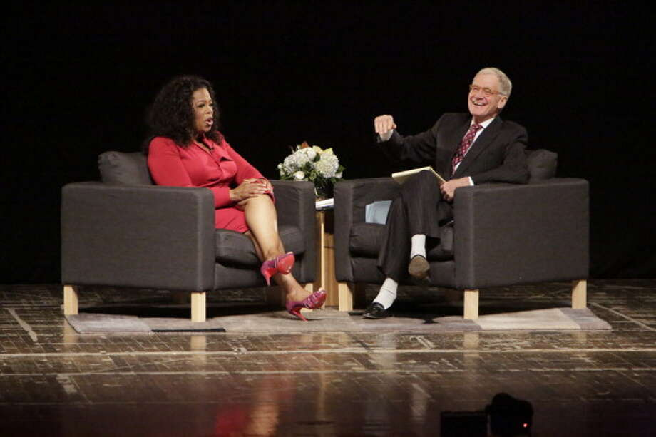 Talk show host David Letterman appears in a rare and candid interview, talking to Oprah Winfrey, at 9/8c Sunday, Jan. 6, 2013, on the Oprah Winfrey Network, at his alma mater, Ball State University. Here's a look at Letterman over the years: / 2012 Getty Images