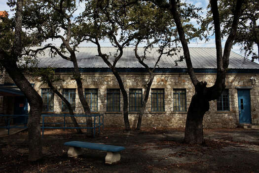 The large limestone building with blue trim was built in 1934 on what was likely the original Locke Hill School. Read More Photo: Lisa Krantz, San Antonio Express-News / © 2012 San Antonio Express-News