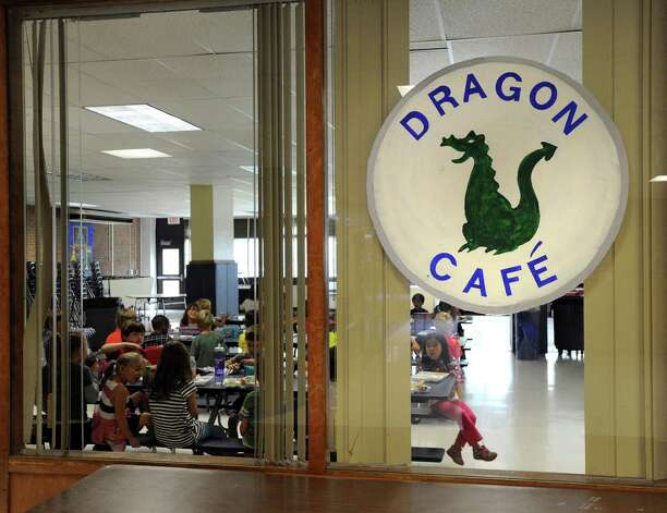 The Dragon Cafe, otherwise known as the North Street School cafeteria in Greenwich, Friday, Sept. 28, 2012. Photo: Bob Luckey / Greenwich Time