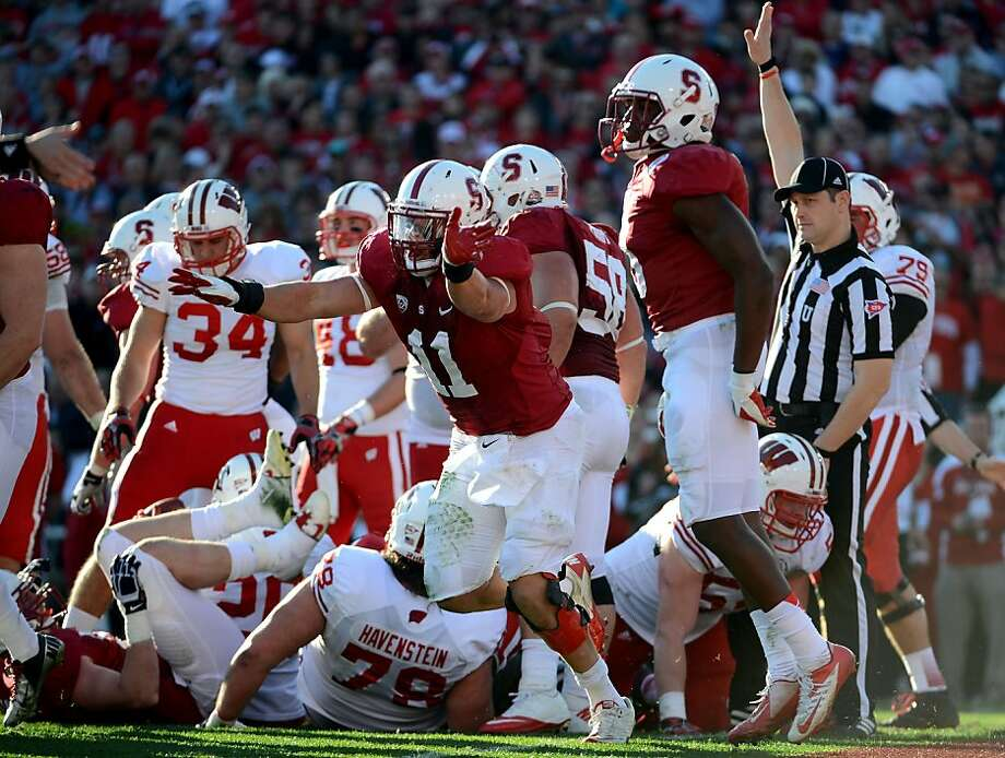Shayne Skov led Stanford in tackles after missing much of 2011 following knee surgery. Photo: Harry How, Getty Images