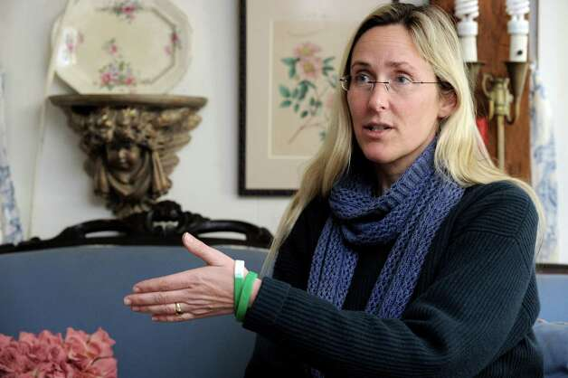 Scarlett Lewis, of Sandy Hook, talks about her son Jesse, who was killed in the Sandy Hook Elementary School shootings on Dec. 14, 2012. Photo: Carol Kaliff / The News-Times
