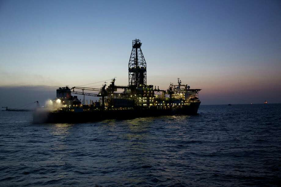 The Deepwater Millennium drillship  works on an Anadarko Petroleum Corp. project in the Rovuma Basin off the coast of Mozambique. Photo: Anadarko Petroleum Corp.