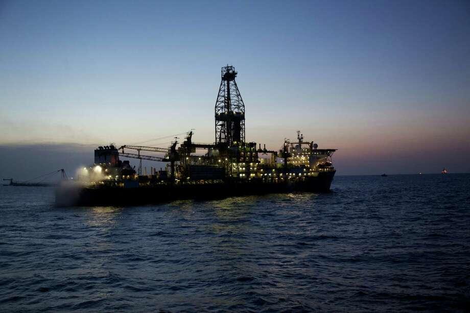 The Deepwater Millennium drillship  works on an Anadarko Petroleum Corp. project in the Rovuma Basin off the coast of Mozambique. Photo: Anadarko Petroleum Corp.