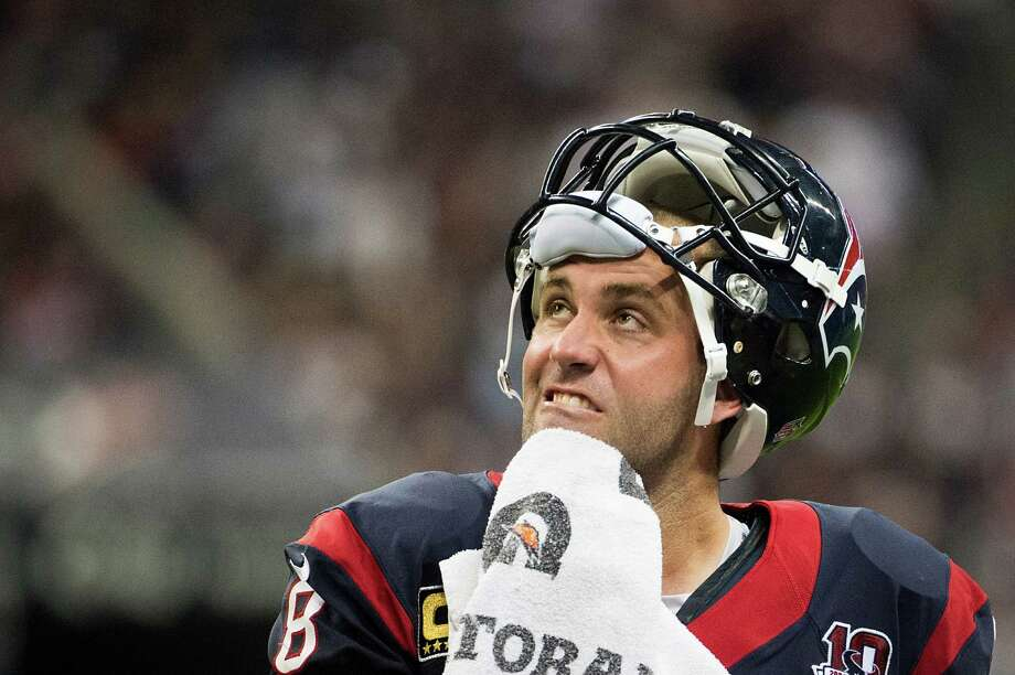 Texans quarterback Matt Schaub made his first postseason start a successful one in the 19-13 win over the Bengals. He finished the game with 262 yards on 29-of-38 passing and one interception. Photo: Smiley N. Pool, Staff / © 2013  Houston Chronicle