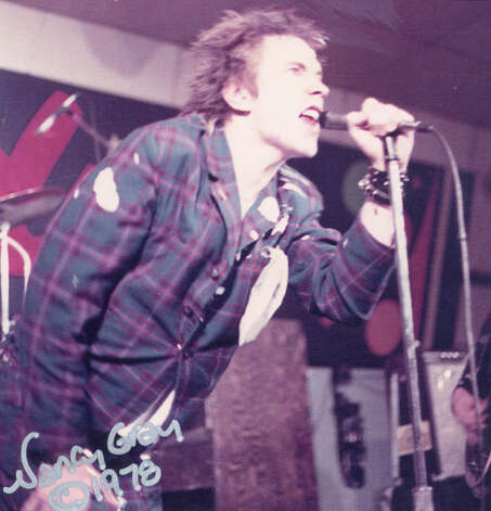 Johnny Rotten of the Sex Pistols sings at their concert in San Antonio in 1978. Photo: COURTESY NANCY GRAY
