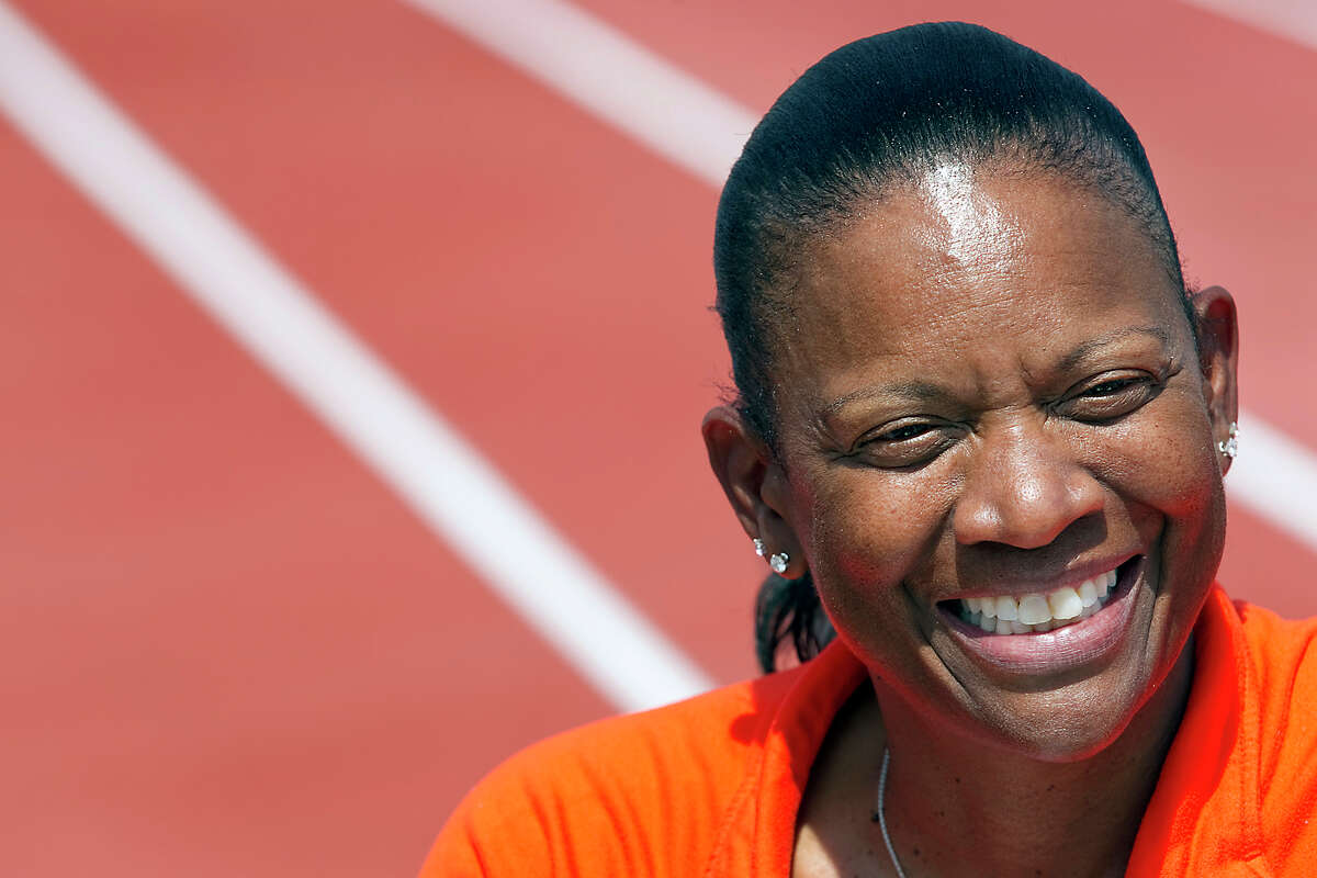In this photo taken March 31, 2011, Texas women's head track and field coach Beverly Kearney is photographed during practice in Austin, Texas. University officials were planning a pay raise for the NCAA college coach before she was abruptly suspended. According to documents released by the school Friday, Nov. 30, 2012, women's athletic director Chris Plonsky wrote president Bill Powers on Sept. 24 requesting the raise and calling her a key mentor and leader. Plonsky suspended Kearney with pay on Nov. 11 to investigate issues within the program that the school has not disclosed. (AP Photo/Statesman.com, Ralph Barrera, file) MAGS OUT; NO SALES; INTERNET AND TV MUST CREDIT PHOTOGRAPHER AND STATESMAN.COM