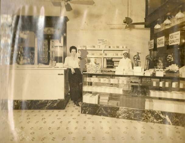 Interior of a San Antonio candy store that may have been Malone's during the 1910s; Photo: Courtesy Marlene Richardson