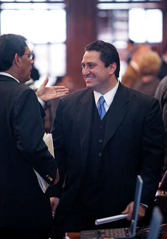 "REP. TREY MARTINEZ FISCHER: The San Antonio chairman of the Mexican American Legislative Caucus sometimes is characterized as ""the bull in the china shop"" for his aggressive approach. He returns about 60 pounds lighter this session but don't expect any less scrappy response from the Democrats' most punchy counter-point to GOP leaders. Lawmakers need to focus on education, water, roads and electricity generation affecting all instead of controversial side issues for GOP primary voters, he says. Photo: Tom Reel, San Antonio Express-News / treel@express-news.net"