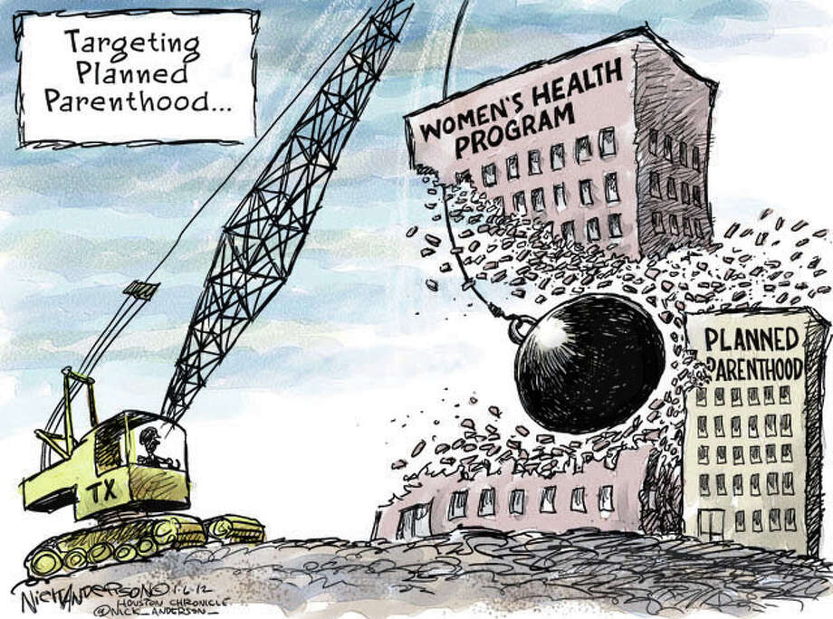 Panned parenthood (Nick Anderson / Houston Chronicle)