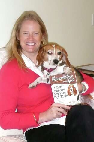 "Greenwich author Jennifer Quasha loves dogs and cats enough to have written a dozen books about them. Her beagle Sugar's antics are featured in her latest work, ""I Can't Believe My Dog Did That,"" which she co-authored for the popular ""Chicken Soup for the Soul"" series. Photo: Anne W. Semmes"