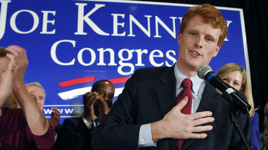 Joseph Kennedy III, son of former Rep. Joseph Kennedy II and grandson of the late Robert F. Kennedy, delivers his victory speech on Nov. 6 in Newton, Mas (AP Photo) Photo: Bizuayehu Tesfaye