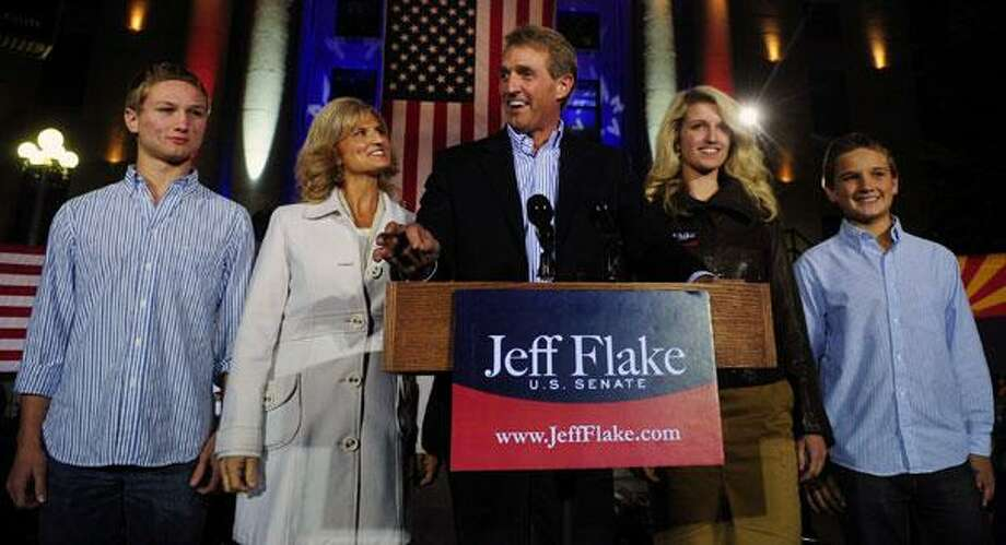 Republican Jeff Flake, the congressman who won Arizona's open U.S. Senate seat, built his reputation on a fierce opposition to earmarks, the special funding requests for roads, bridges and other local pet projects that are criticized as wasteful patronage. Photo: Les Stukenberg