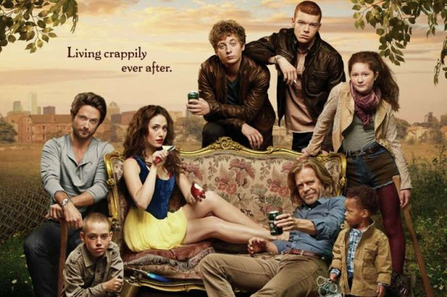 """Cameron Monaghan, standing, second from right, plays gay character Ian Gallagher on """"Shameless."""" (Showtime)"""