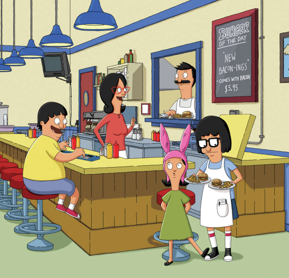 """Bob's burgers: Season 3"" - In this animated series, hamburger restaurant owner Bob Belcher, his happy-go-lucky wife, Linda, and their three rambunctious kids try to outwit a rival eatery and overcome their own family dysfunction to get their greasy spoon off the ground. Now Available Photo: CR: FOX / © 2011 FOX BROADCASTING"