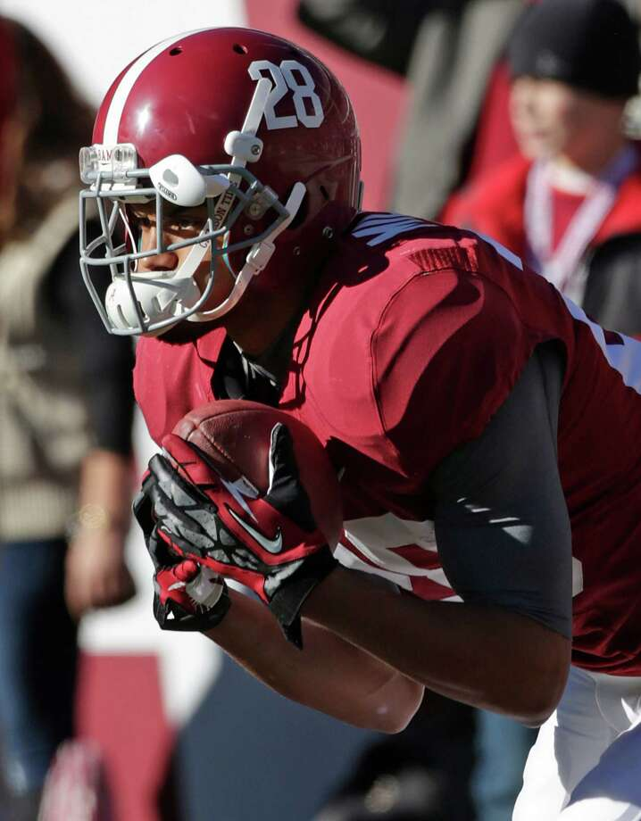 Alabama defensive back Dee Milliner (28) is pictured before a NCAA college football game against Auburn at Bryant-Denny Stadium in Tuscaloosa, Ala., Saturday, Nov. 24, 2012. (AP Photo/Dave Martin) Photo: Dave Martin, Associated Press / AP