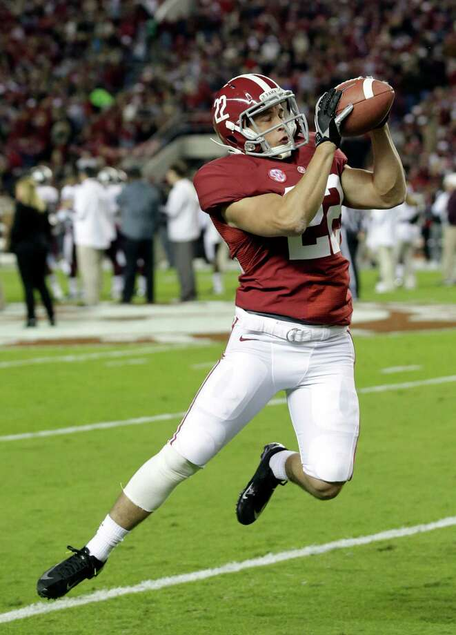 Alabama defensive back Hunter Bush (22) catches the ball prior to an NCAA college football game against Mississippi State at Bryant-Denny Stadium in Tuscaloosa, Ala., Saturday, Oct. 27, 2012. (AP Photo/Dave Martin) Photo: Dave Martin, Associated Press / AP