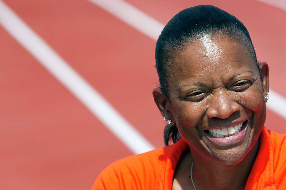 In this photo taken March 31, 2011, Texas women's head track and field coach Beverly Kearney is photographed during practice in Austin, Texas. University officials were planning a pay raise for the NCAA college coach before she was abruptly suspended. According to documents released by the school Friday, Nov. 30, 2012, women's athletic director Chris Plonsky wrote president Bill Powers on Sept. 24 requesting the raise and calling her a key mentor and leader. Plonsky suspended Kearney with pay on Nov. 11 to investigate issues within the program that the school has not disclosed. (AP Photo/Statesman.com, Ralph Barrera, file)  MAGS OUT; NO SALES; INTERNET AND TV MUST CREDIT PHOTOGRAPHER AND STATESMAN.COM Photo: Ralph Barrera, Associated Press / Austin American-Statesman