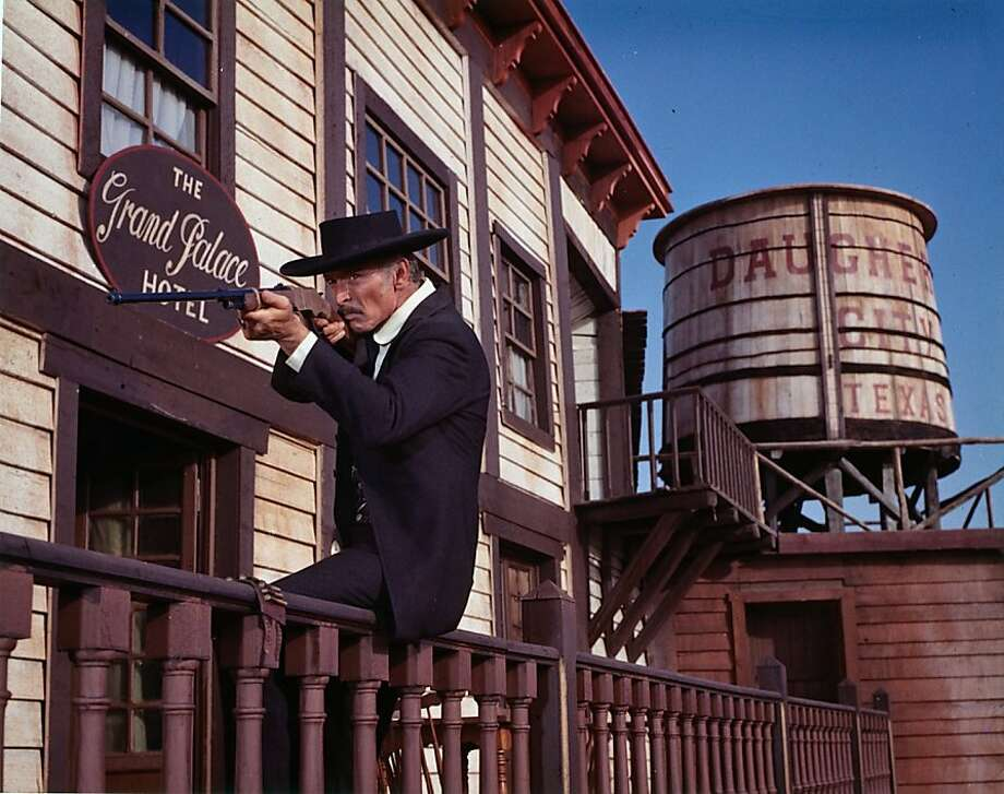 "Lee Van Cleef takes aim in the 1969 spaghetti western ""Sabata,"" directed by Frank Kramer (a.k.a. Gianfranco Parolini). Photo: Pacific Film Archive"