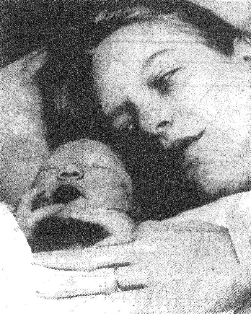 The first baby of the New Year 1973, Michael A. Scott, sleeps close to his mom, Mrs. Keith Scott, at Wilford Hall Air Force Hospital. The eight pound, one ounce boy was born at 12:06 a.m. Published in the San Antonio Light Jan. 1, 1973.