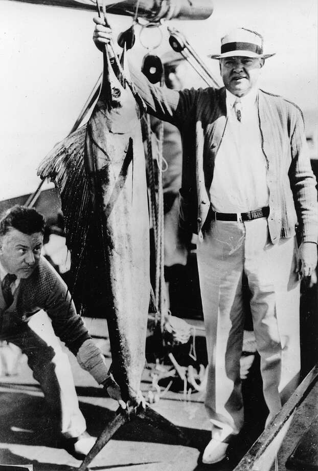 President Herbert Hoover poses with one of the five sailfish he caught on his vacation trip in Florida waters aboard the presidential boat Sequoia, Jan. 21, 1933. Photo: Associated Press / Associated Press