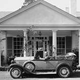 "Georgia sunshine and country roads attracted President Franklin Roosevelt on the first day of his vacation in Nov. 22, 1935 in Warm Springs. Georgia. At the wheel of his automobile, the president waves as he prepares to leave the ""Little White House"" for a drive into the picturesque countryside.   Motoring and swimming were the chief executive's principal diversions."