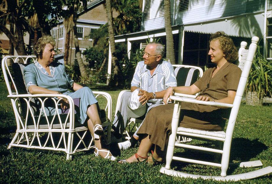 President Truman on vacation. Photo: Associated Press / Associated Press