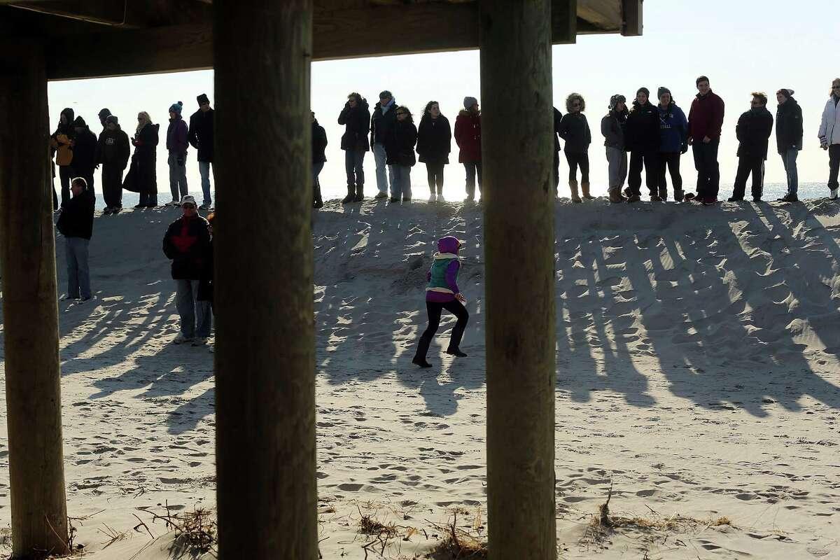 LONG BEACH, NY - JANUARY 05: Hundreds of residents of Long Beach, Long Island attend a