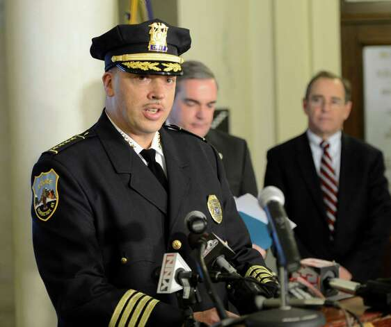 Brian Kilcullen was named chief of the Schenectady Police Department during a ceremony Monday morning at City Hall. (Skip Dickstein / Times Union) Photo: SKIP DICKSTEIN / 00020667A