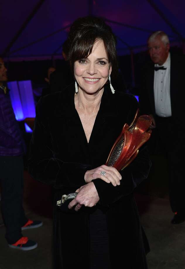 Actress Sally Field poses with the Career Achievement Award  at the the 24th Annual Palm Springs International Film Festival Awards Gala After Party At Parker Palm Springs on January 5, 2013 in Palm Springs, California. Photo: Michael Buckner / 2013 Getty Images