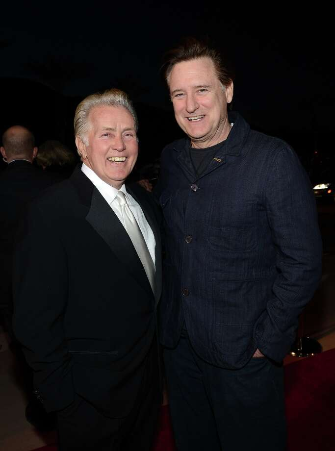 Actors Martin Sheen (L) and Bill Pullman arrive at the 24th annual Palm Springs International Film Festival Awards Gala at the Palm Springs Convention Center on January 5, 2013 in Palm Springs, California. Photo: Michael Buckner / 2013 Getty Images