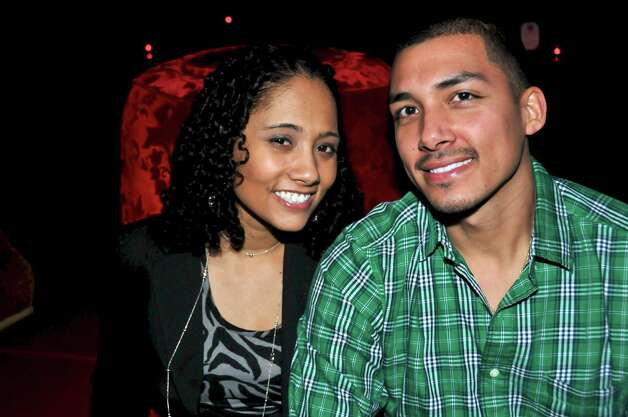 Amanda Hardy and Nathan Castillo are enjoying the Latin Music at the Coco Lounge.