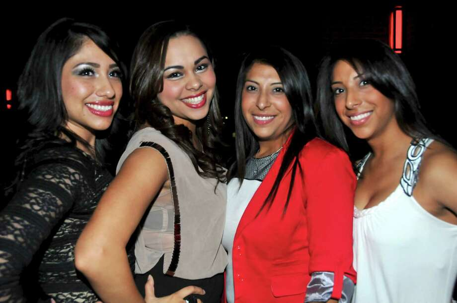 Erica Lomas, Eliza Zamora, Valene Benitez, and Vanessa Benetiz are having a great night out at the Coco lounge.