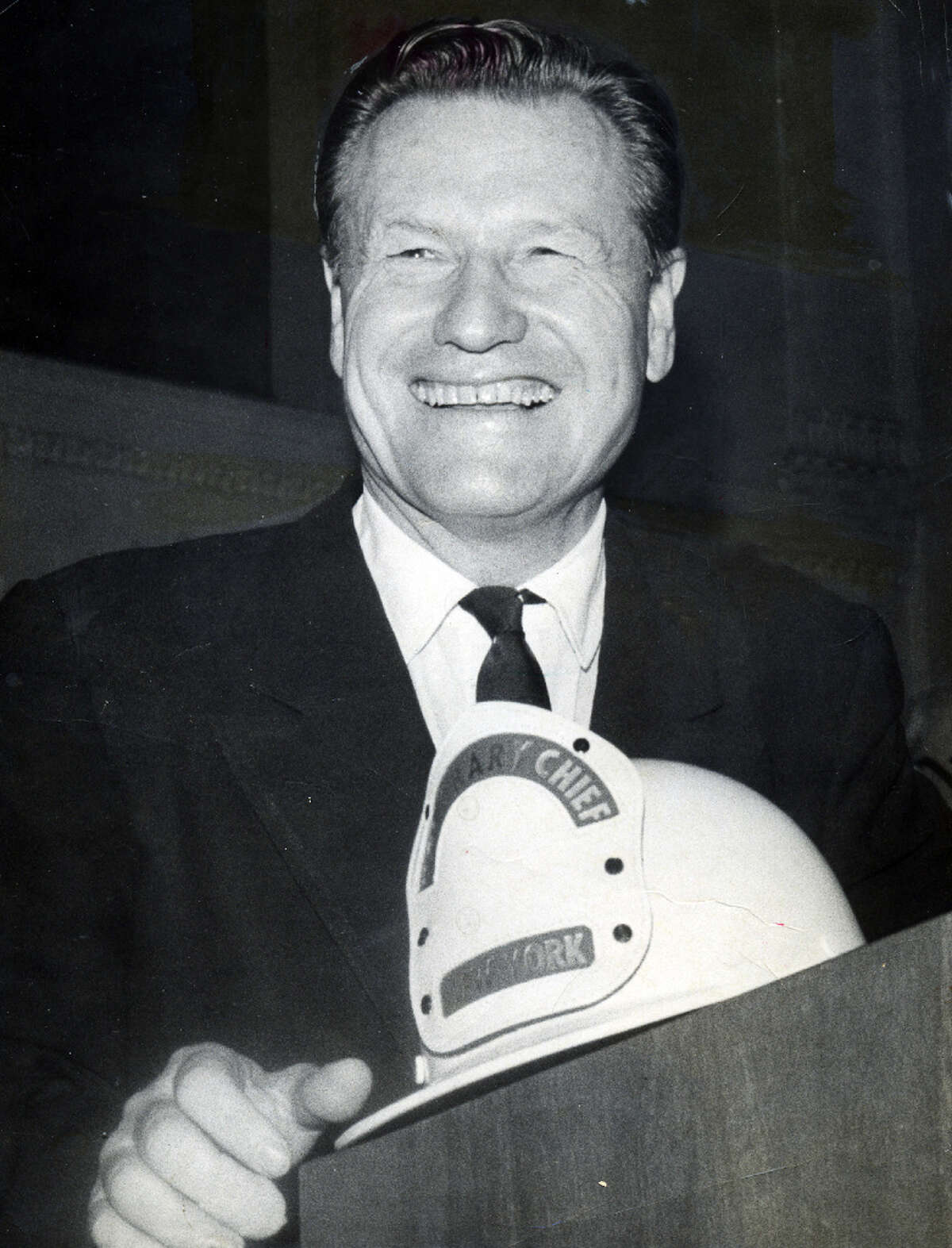 Gov. Nelson Rockefeller greets the Governor's fire prevention conference in Albany Sept. 24, 1959. (Times Union archive)