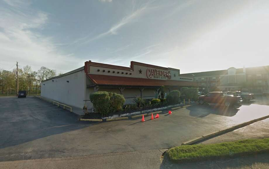 Houston police arrested two suspects early Monday near Cavender's Boot City store at 14045 Northwest Freeway, about an hour after burglars stole a safe from a Cavender's Boot City on the Gulf Freeway. Photo: Source: Google