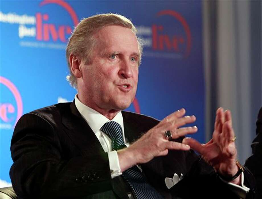 William Cohen, left, member of the House Judiciary Committee during Watergate, speaks during an event sponsored by The Washington Post to commemorate the 40th anniversary of Watergate Monday, June 11, 2012 at the Watergate office building in Washington. Photo: Alex Brandon, AP / AP