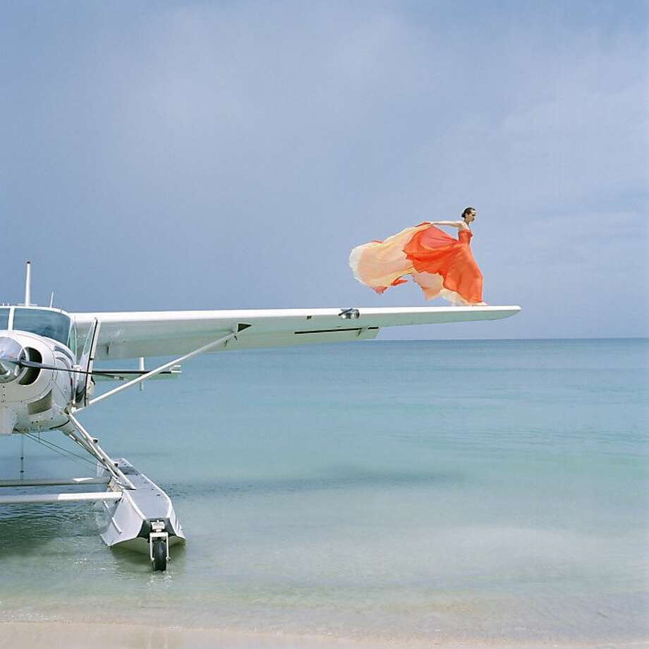 """Saori on Sea Plane Wing, Dominican Republic, 2010."" Photo: Rodney Smith"