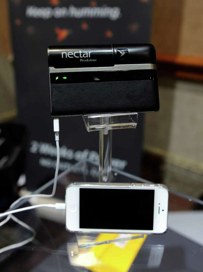 Lilliputian displays its Nectar mobile power system during a 2013 Consumer Electronics Show preview at the Mandalay Bay Convention Center on Sunday, January 6, 2013 in Las Vegas. Photo: David Becker, Getty Images / 2013 Getty Images