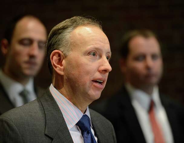 Saratoga County District Attorney James Murphy speaks during a press conference on the subject of the indictments against Dennis Drue at the Saratoga County Courthouse in Ballston Spa, N.Y. Jan. 7, 2013.  (Skip Dickstein/Times Union) Photo: SKIP DICKSTEIN / 00020670A