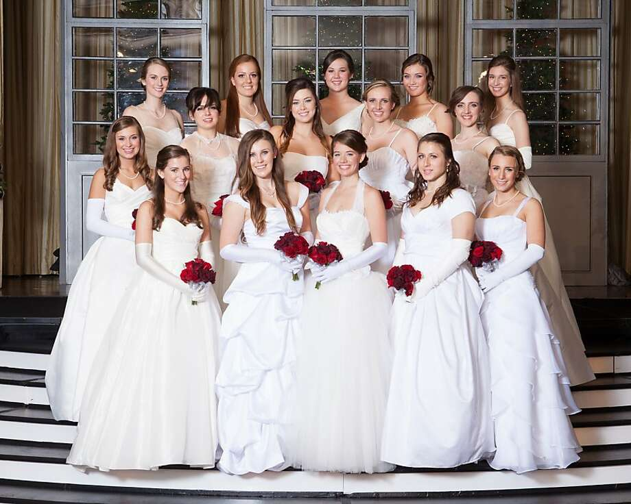 Winter Ball debutantes, front row: Katharine DeWitt (left), Carlyn Wright, Michelle Fournier, Gabriela Blum, Isabel Goldman. Middle row: Haley Cassriel (left), Elizabeth Haney, Katherine O'Brien, Monica Fiedler-Ross, Anna Wender. Back row: Megan Everett (left), Caroline Counts, Jamie Fiero, Elizabeth Brickley, Jordan Todd. Photo: James Brian Fidelibus, Special To The Chronicle